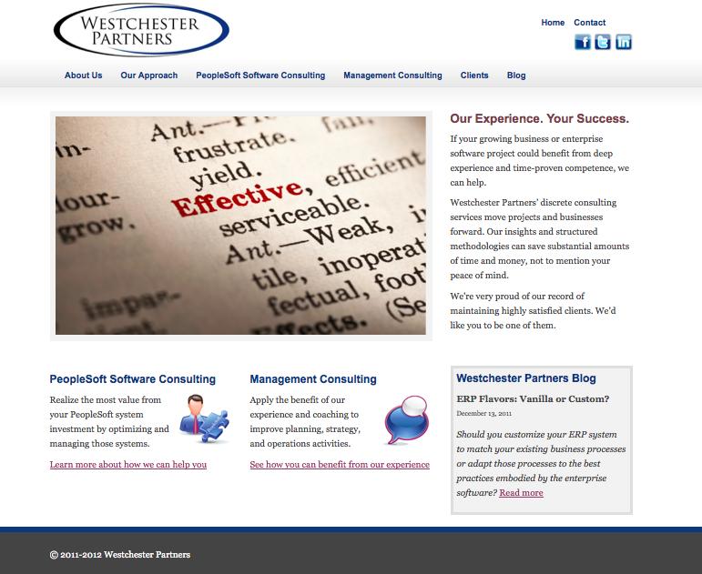Westchester Partners Website (Ready, Set, Launch!)