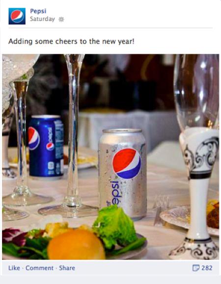 Pepsi Facebook January 12