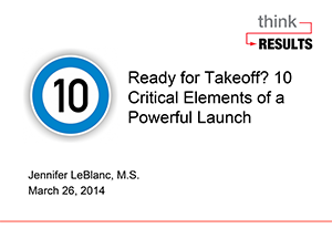 10 Critical Launch Elements 032614-1