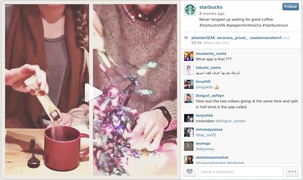 Starbucks Instagram Video