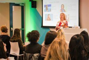 Jennifer LeBlanc speaking